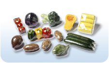 picture of vegetables wrapped in cryovac shrink