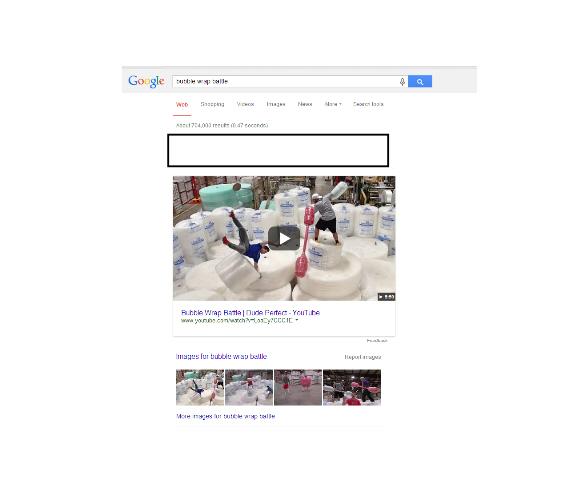 Google Search Bubble Wrap Battle